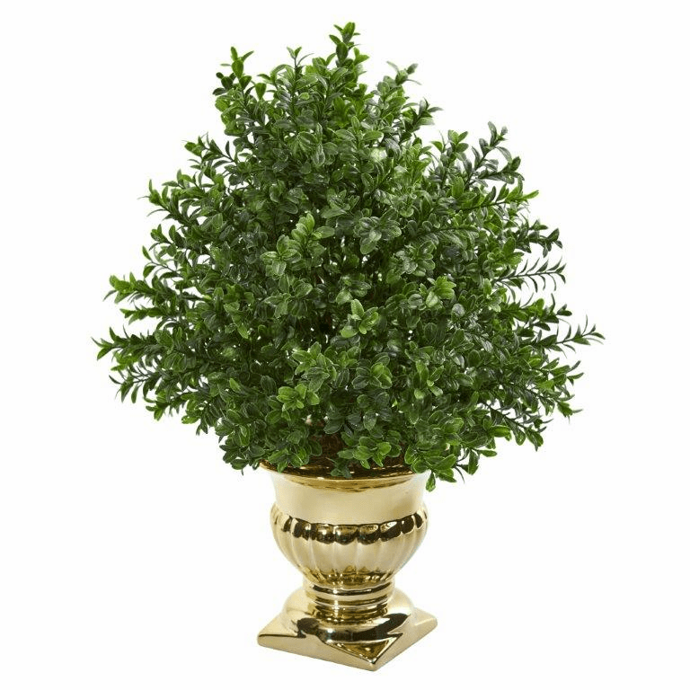 "19"" Sweet Grass Artificial Plant Topiary in Gold Urn"