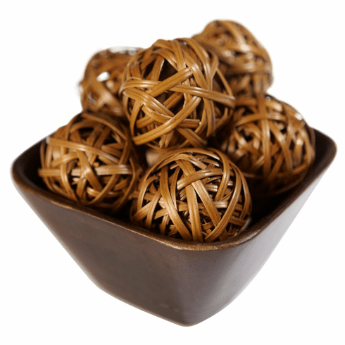 "2.25"" Decorative Weaved Balls (Set of 12)"