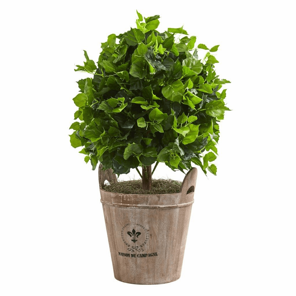 2.5� Ficus Artificial Tree in Farmhouse Planter