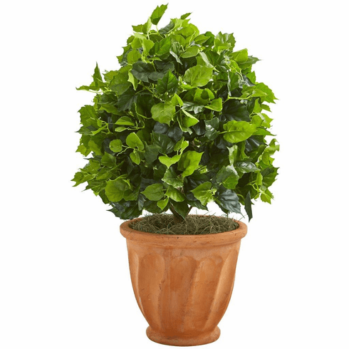 2.5' Ficus Artificial Tree in Terra Cotta Planter