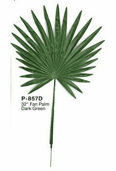 "2 Dozen Replacement 32"" Artificial Fan Palm Leaves"