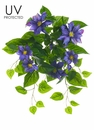 """20.5"""" UV Protected Clematis Artificial Flower Bush - Set of 6"""