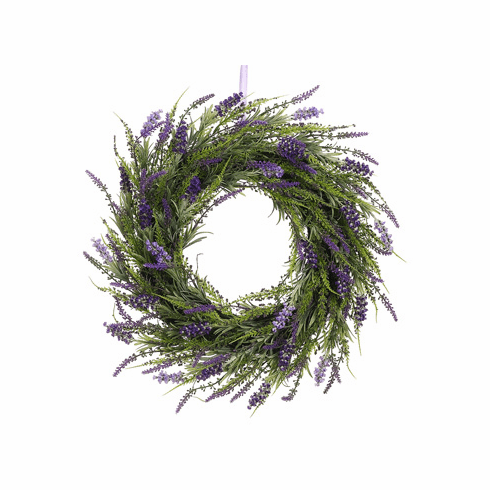 "20"" Artificial Lavender Twig Wreath  - Set of 2 (shown in lavender)"