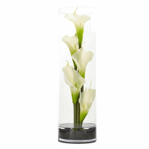 "20"" Calla Lily in Cylinder Glass"
