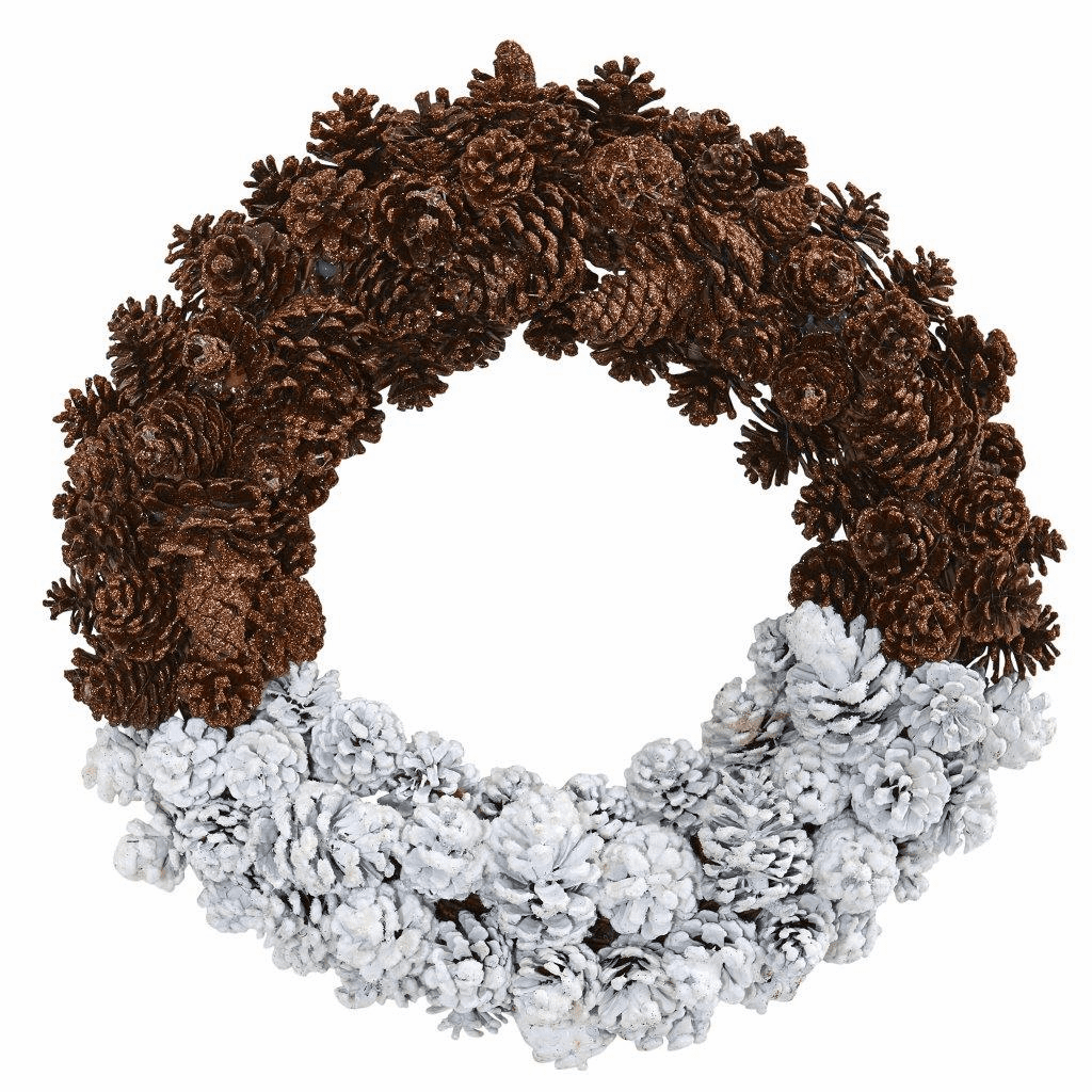 20� Frosted Artificial Pine Cone Wreath
