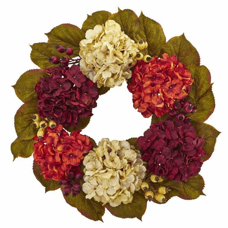 20� Hydrangea Berry Artificial Wreath