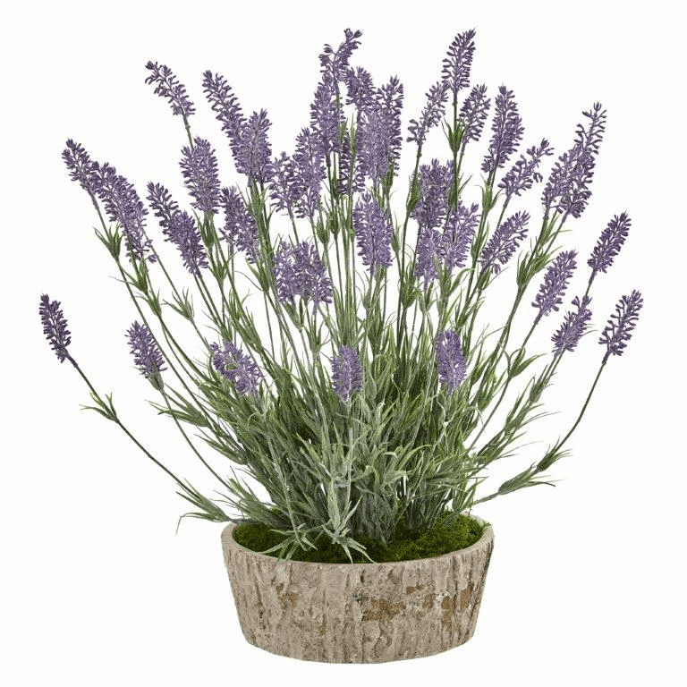 20� Lavender Artificial Plant in Weathered Oak Planter