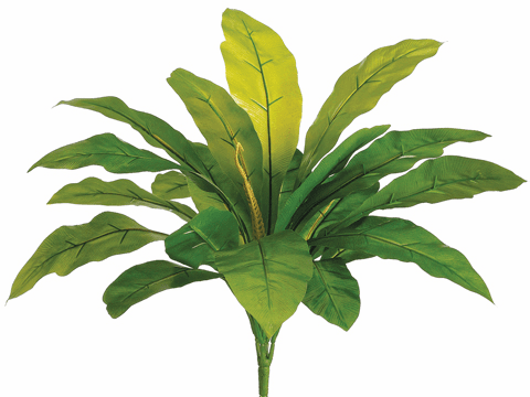 "20"" Outdoor Bird's Nest Fern Artificial Bush with 20 Leaves - Set of 12"