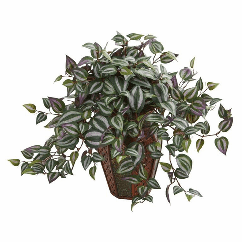 "20"" Wandering Jew Artificial Plant in Decorative Plantert"