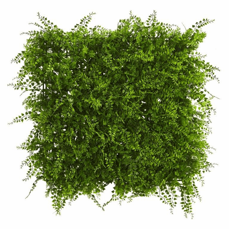 20� x 20� Lush Mediterranean Artificial Fern Wall Panel UV Resistant (Indoor/Outdoor)