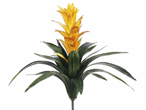 "21"" Artificial Guzmania Flower Plant Stem - Set of 6"