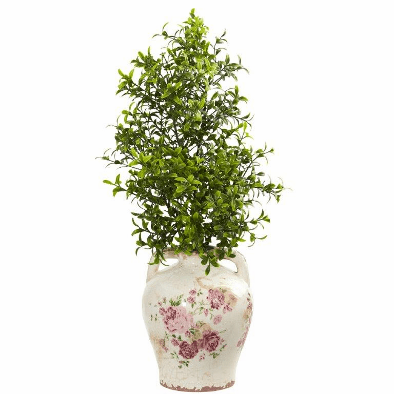 21� Boxwood Artificial Plant in Floral Jar