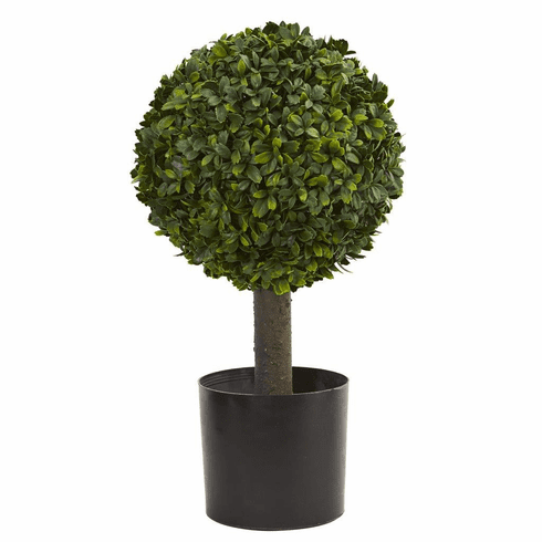 "21"" Boxwood Ball Topiary Artificial Tree"