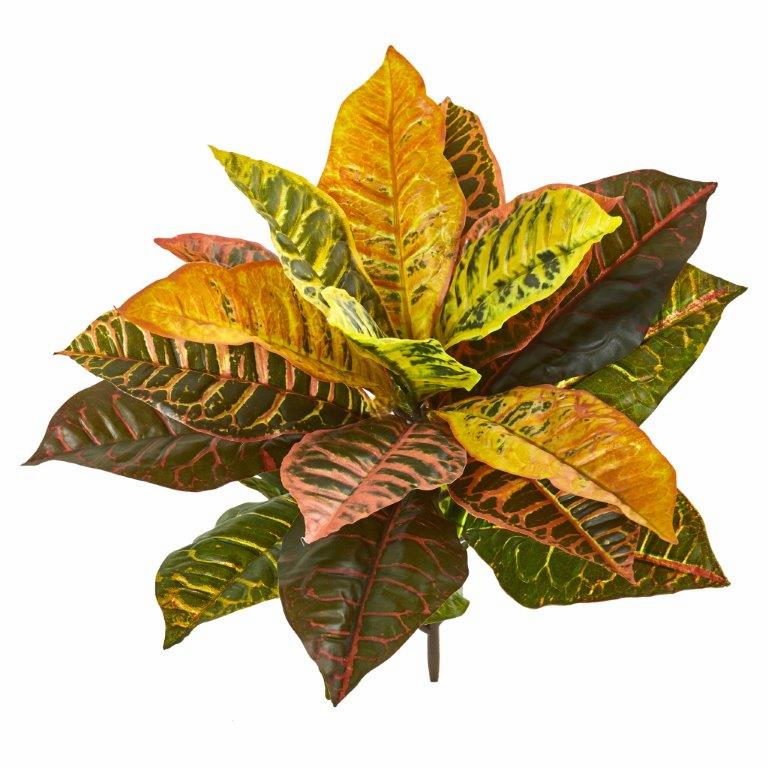21� Garden Croton Artificial Plant (Real Touch) (Set of 4)
