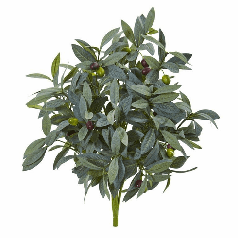 """21"""" Olive Bush with Berries Artificial Plant (Set of 3)"""