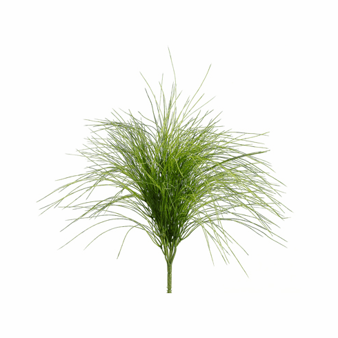 "21"" Plastic Willow Artificial Grass Bushes - Set of 6"