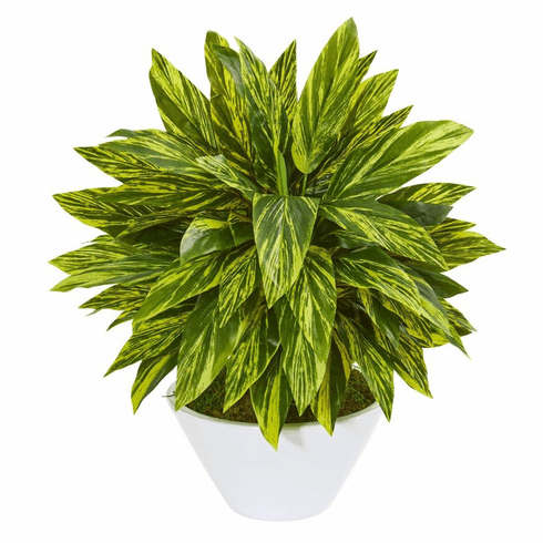 """21"""" Tradescantia Artificial Plant in White Vase (Real Touch)"""