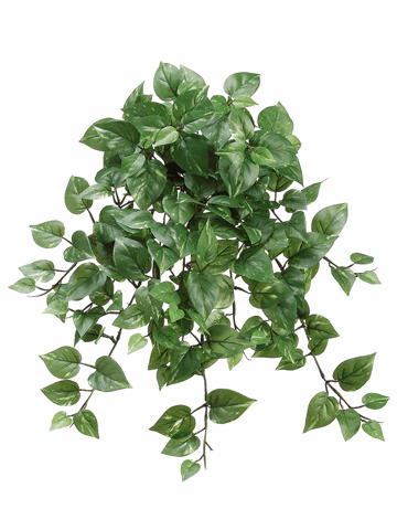 "22.5"" Medium Pothos Hanging Artificial Bush x15 with 214 Leaves - Set of 12"