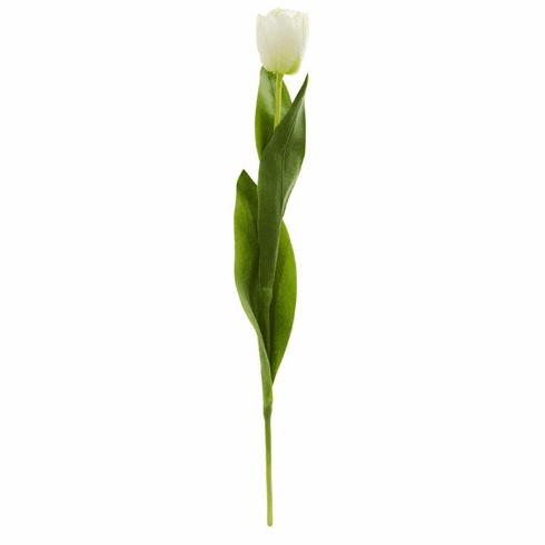 """22"""" Tulip Artificial Flower (Set of 8) - White"""