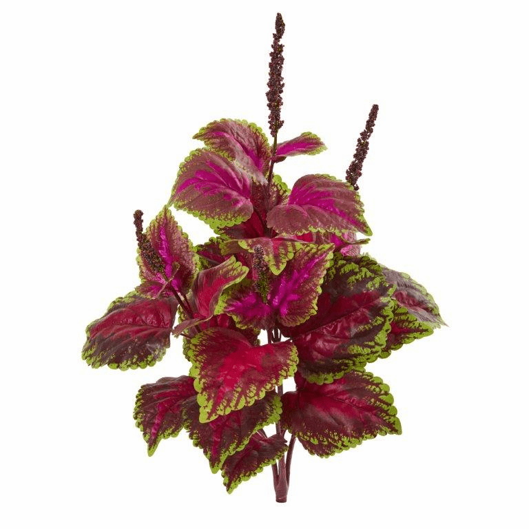 23� Coleus Bush Artificial Plant (Set of 6)