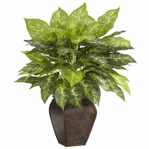 "23"" Dieffenbachia with Decorative Vase Silk Plant"