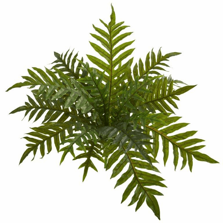 23� Hares Foot Fern Bush Artificial Plant (Set of 3) (Real Touch)