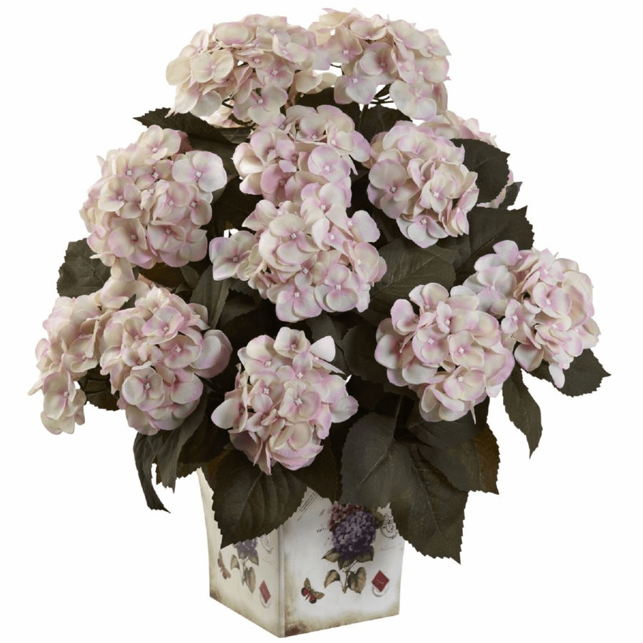 "23"" Hydrangea Artificial Arrangement with Large Floral Planter"