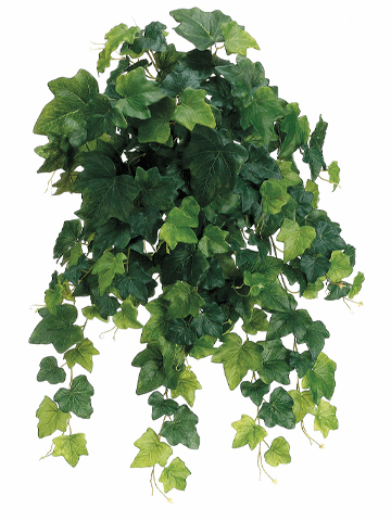 """23"""" Instant Open Rounded English Ivy Hanging Artificial Bush x 19 Vines - Set of 6"""
