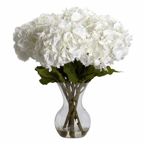"23"" Large Hydrangea with Vase Silk Flower Arrangement"