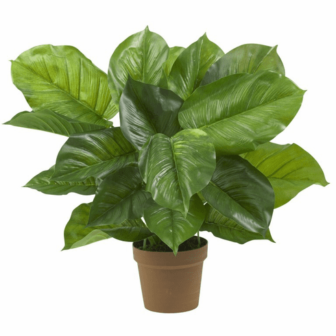 """23"""" Large Leaf Philodendron Silk Plant (Real Touch)"""