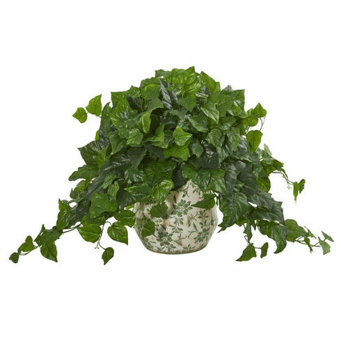 """23"""" London Ivy Artificial Plant in Vase (Real Touch)"""