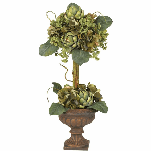 "24"" Artichoke Topiary Silk Flower Arrangement"