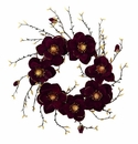 24� Burgundy and Gold Magnolia Artificial Wreath
