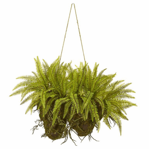 "24"" Forest Fern Artificial Hanging Plant"