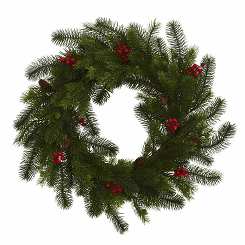 "24"" Pine and Berry Artificial Wreath"