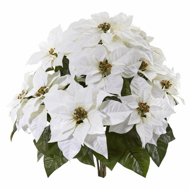 24� Poinsettia Artificial Plant (Set of 2) - Non Potted