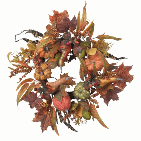 "24"" Pumpkin & Berry Wreath"
