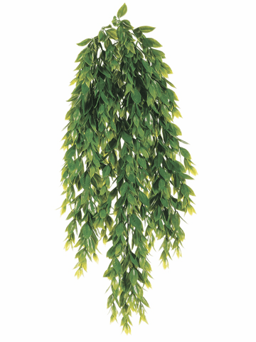 "25.5"" Plastic Flaming Grass Hanging Bush - Set of 12"