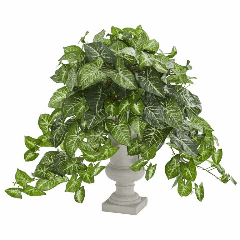 "25"" Nephtytis Artificial Plant Arrangement in Gray Urn"