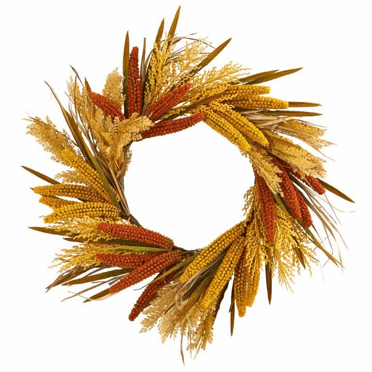 25� Sorghum Harvest Artificial Wreath