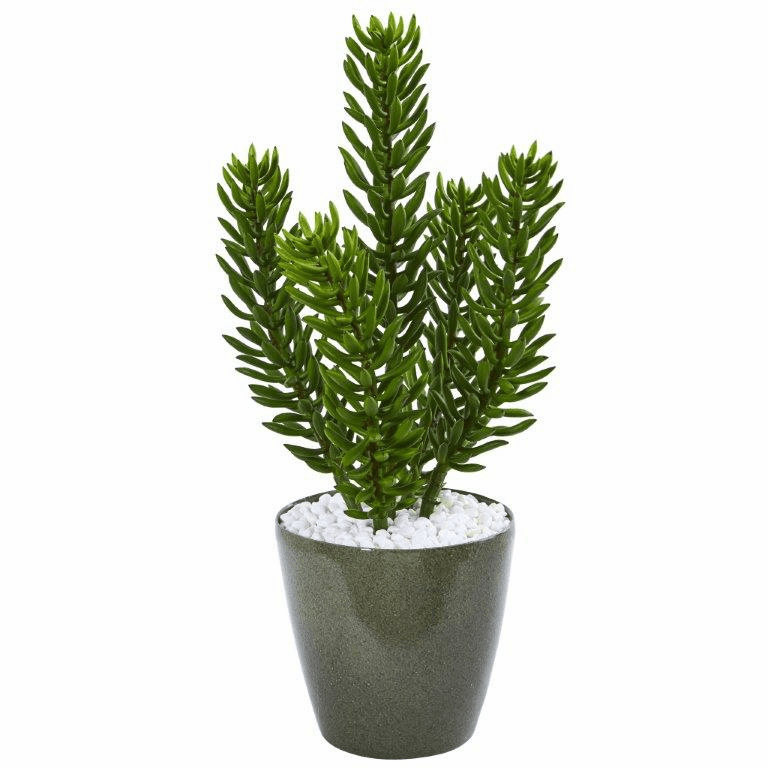 25� Succulent Artificial Plant in Green Planter