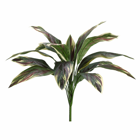 "26"" Artificial Cordyline Bush with 15 Leaves - Set of 12 (shown in Green Pink)"