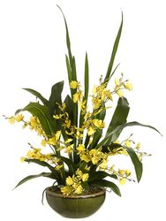 "26"" Artificial Oncidium Orchid in Bowl"