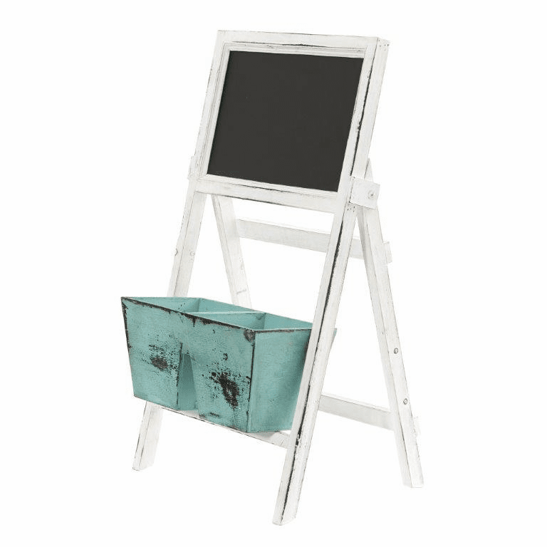 26� Farmhouse Multipurpose Bin and Chalkboard Stand - N/A