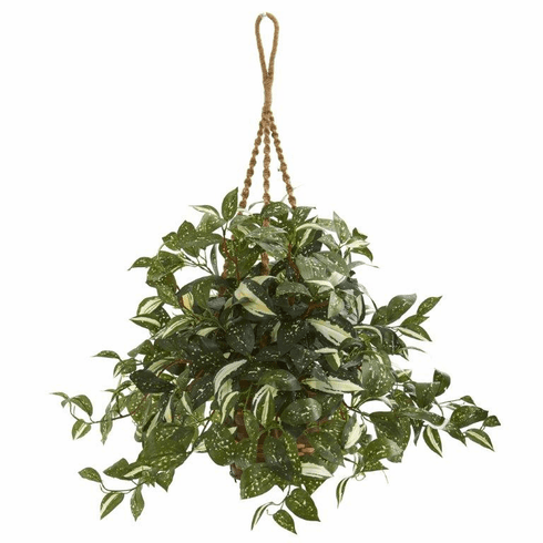 "26"" Florida Beauty Artificial Plant in Hanging Basket"