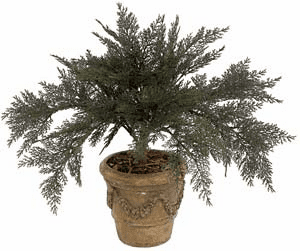 "27"" Artificial Outdoor Spreading Juniper Plant (pot not included) - UV Infused Set of 6"