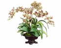 """27"""" Artificial Phalaenopsis Orchid, Boston Fern and Moss Flower Arrangement in Bowl"""