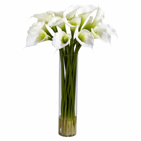 "27"" Calla Lilly in Cylinder Artificial Flower Arrangement"