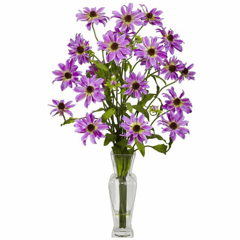 "27"" Cosmos with Vase Silk Flower Arrangement"