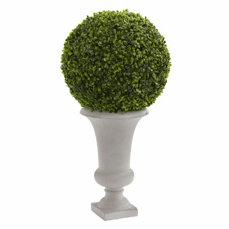 28� Boxwood Ball Topiary Artificial Plant in Urn (Indoor/Outdoor)